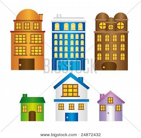 buildings and houses