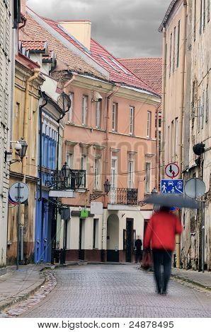 Vilnius Oldtown Street, Motion Blur