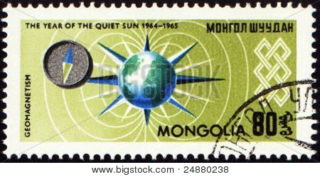 Geomagnetism Exploration On Post Stamp
