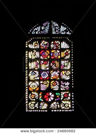 Vitrage (Glasmalerei, Art Glass) In einem Renaissancegebäude
