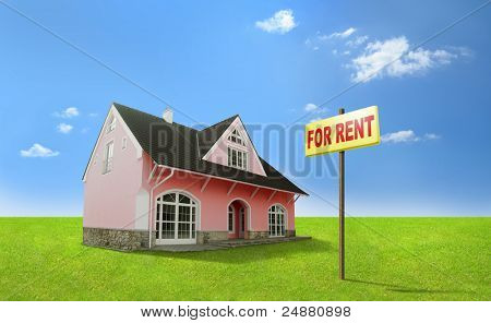 Dream home for rent. Real estate, realty.