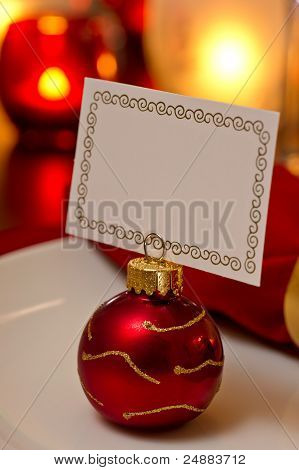 Christmas Place Setting With Card