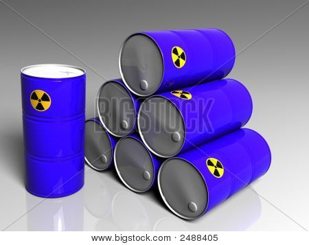 Few Barrels With A Radioactive Symbol