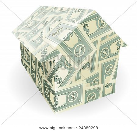 Dollar Bills House