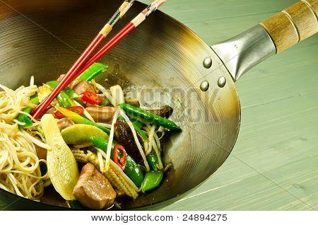plum and hoisin duck stir fry