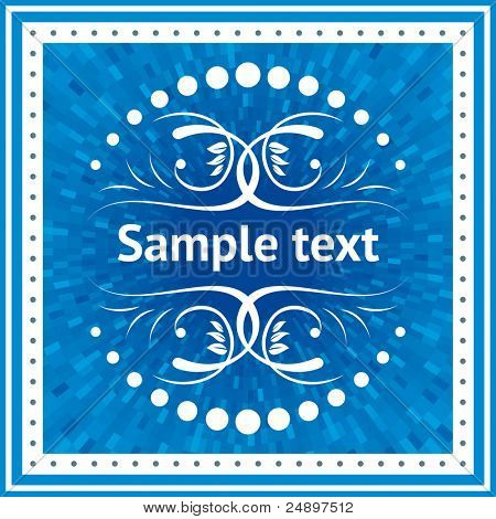 Vector vintage ornamento con fondo azul brillante