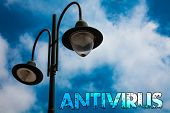 Word Writing Text Antivirus. Business Concept For Safekeeping Barrier Firewall Security Defense Prot poster