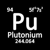 Periodic Table Element Plutonium Icon On White Background. Vector Illustration. poster