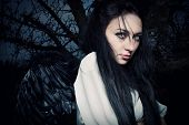 image of pretty girl  - pretty dark - JPG