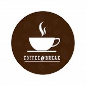Flat Coffee Logo Vector Design.coffee Logo Isolated On White Background.sticker Or Decorative For Co poster