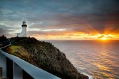 picture of lighthouse  - Lighthouse at Cape Byron - JPG