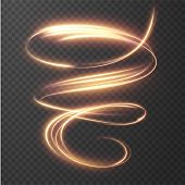 Glowing Shiny Spiral Lines Effect Vector Background. Eps10. Abstract Light Speed Motion Effect. Shin poster