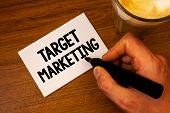 Conceptual Hand Writing Showing Target Marketing. Business Photo Text Market Segmentation Audience T poster