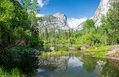 Mirror Lake Is A Small, Seasonal Lake Located On Tenaya Creek In Yosemite National Park. Situated In poster