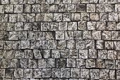 Stone Background. Masonry Of Square Stones Of White Color poster