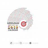 2019 Calendar Template.spiral Calendar.calendar 2019 Set Of 12 Months.yearly Calendar Vector Design  poster