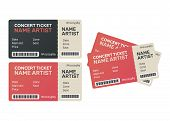 Ticket Concert Invitation. Music, Dance, Live Concert Tickets Templates poster