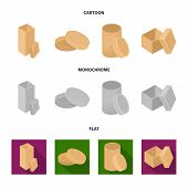 Box, Container, Package, And Other  Icon In Cartoon, Flat, Monochrome Style.case, Shell Framework Ic poster