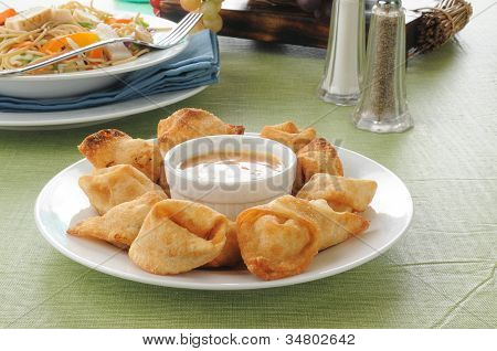 Crab Rangoon With Thai Salad