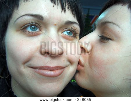 The Girl Kisses The Girlfriend.