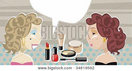 Stylish Ladies And Cosmetics