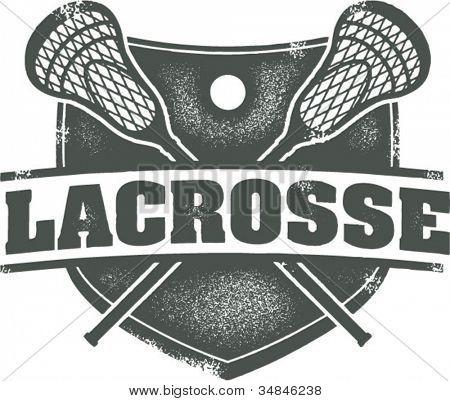 Cresta de deporte Vintage Lacrosse