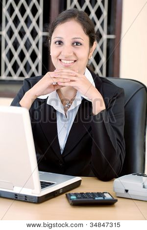 Relaxed Young Business Woman