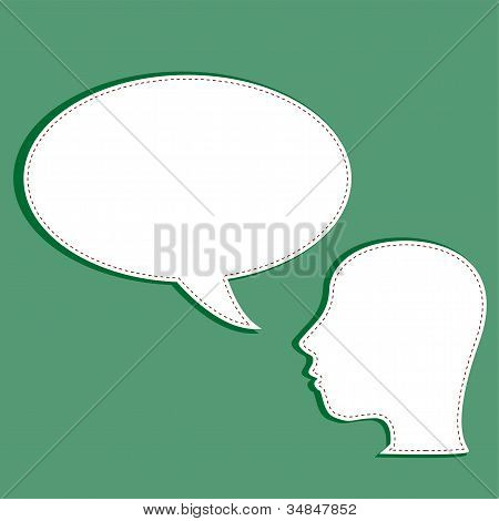 Man With A Empty Speech Bubble Over His Head