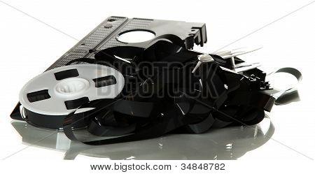 Gebrochene Videoband