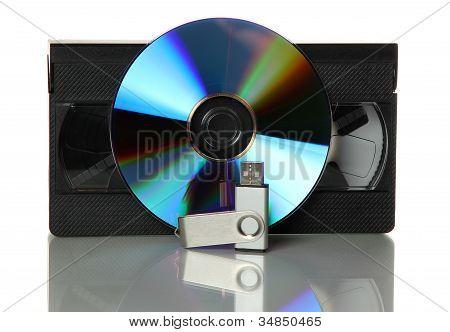 Cinta de vídeo con Dvd y Usb Stick