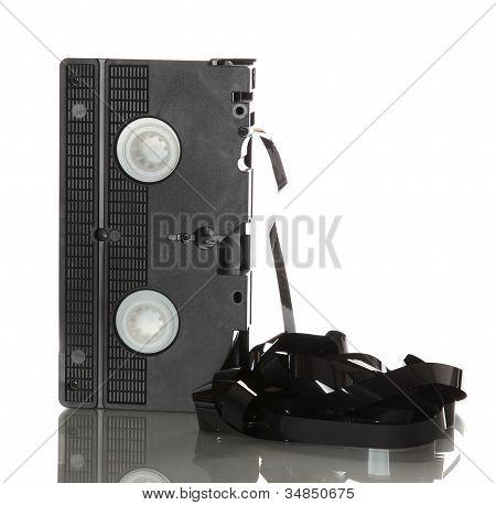 Cinta de vídeo con dañado cinta