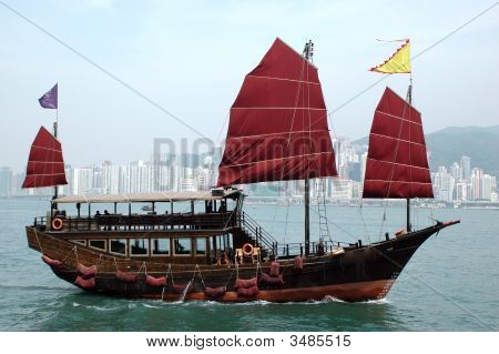 Tourism Ship In Hongkong