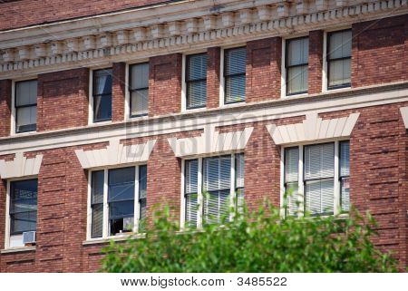 Brown Brick Apartment Building