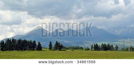 Mountain Landscape At Cloudy Day