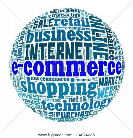 E-commerce in word collage