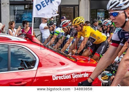 Thel Start Of Stage 5 In Le Tour Of France 2012 (rouen)