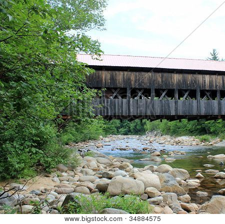 Pretty old wooden covered bridge