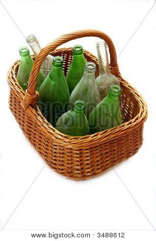 Bottles And Basket