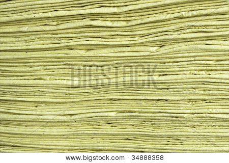 Bergung gelb Papierstruktur