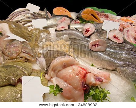 Fishes in market