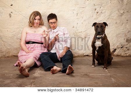 Ladies Blame A Dog