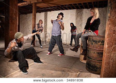 Break Dancers Showing Off