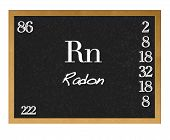 picture of rn  - Blackboard with the signs of the periodic table - JPG