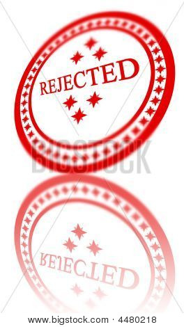 Red Rejected Stamp