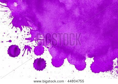 watercolor paper painted purple on white watercolor