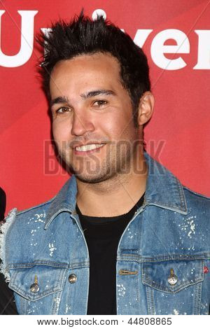 LOS ANGELES - APR 22:  Pete Wentz at the NBCUniversal Summer Pres Day 2013 at the Huntington Langham Hotel on April 22, 2013 in Pasadena, CA
