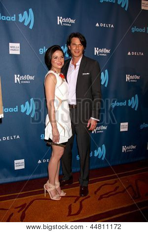 LOS ANGELES - APR 20:  Lana Parrilla arrives at the 2013 GLAAD Media Awards at the JW Marriott on April 20, 2013 in Los Angeles, CA