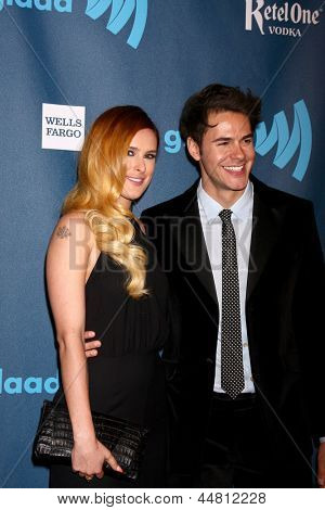 LOS ANGELES - APR 20:  Rumer WIllis, Jayson Blair arrives at the 2013 GLAAD Media Awards at the JW Marriott on April 20, 2013 in Los Angeles, CA