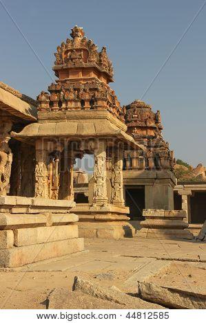 Detail Of The Krishna Temple In Hampi