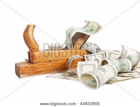 Make Money Concept Isolated On White Background